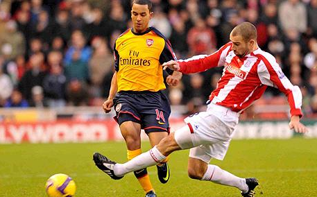 Late tackle on Walcott