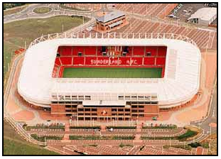Stadium of Light, aerial view